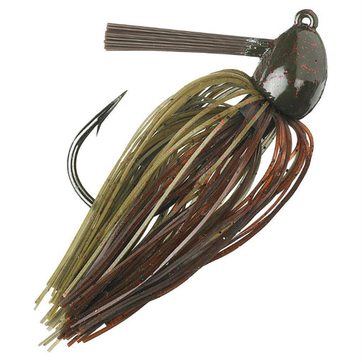 Hack Attack  Heavy Cover Jig - 5-0 Hook Sise, 1-2 oz, Green Pumpkin Craw, Package of 1