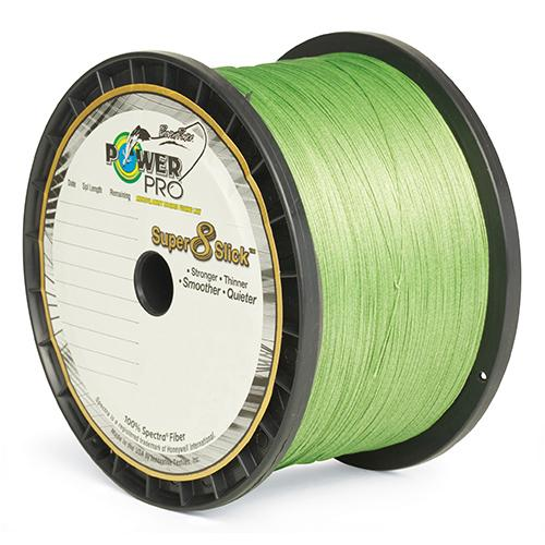 "PowerPro Super 8 Slick Braided Line - 300 Yards, 40 lbs Tested, 0.012"" Diameter, Aqua Green"