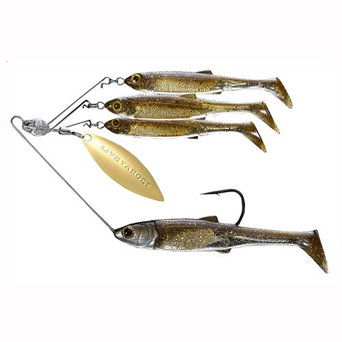 Baitball Spinner Rig - Freshwater, Large, 1'-15' Depth, 1-2 oz Weight, Dark Amber Gold, Per 1