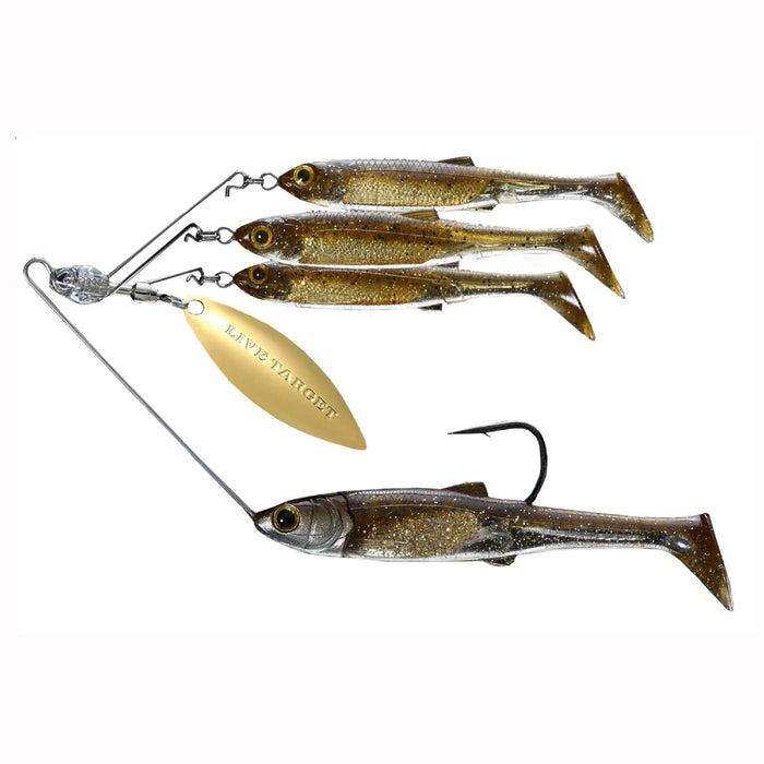 Baitball Spinner Rig - Freshwater, Small, 1-4 oz Weight, 1'-15' Depth, Dark Amber-Gold, Per 1