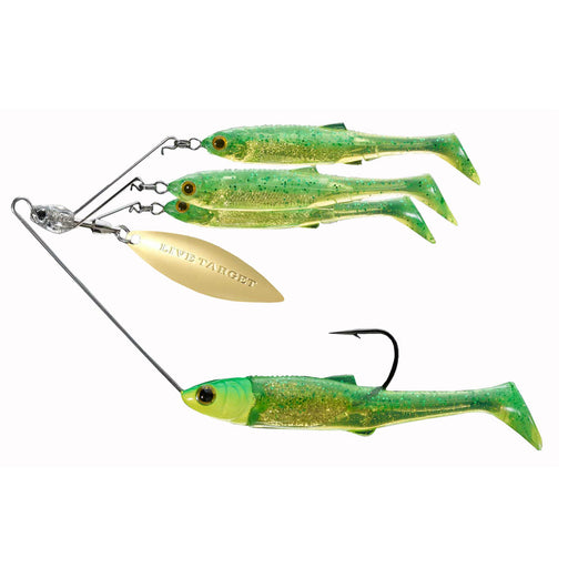 Baitball Spinner Rig - Freshwater, Small, 1'-15' Depth, 3-8 oz Weight, Lime Chartreuse-Gold, Per 1