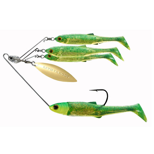 Baitball Spinner Rig - Freshwater, Large, 3-4 oz Weight, 1'-15' Depth, Lime Chartreuse-Gold, Per 1