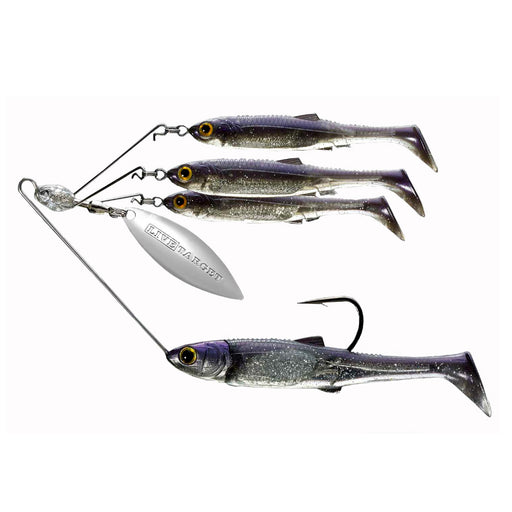 Baitball Spinner Rig - Freshwater, Large, 3-4 oz Weight, 1'-15' Depth, Pearl-Silver, Per 1