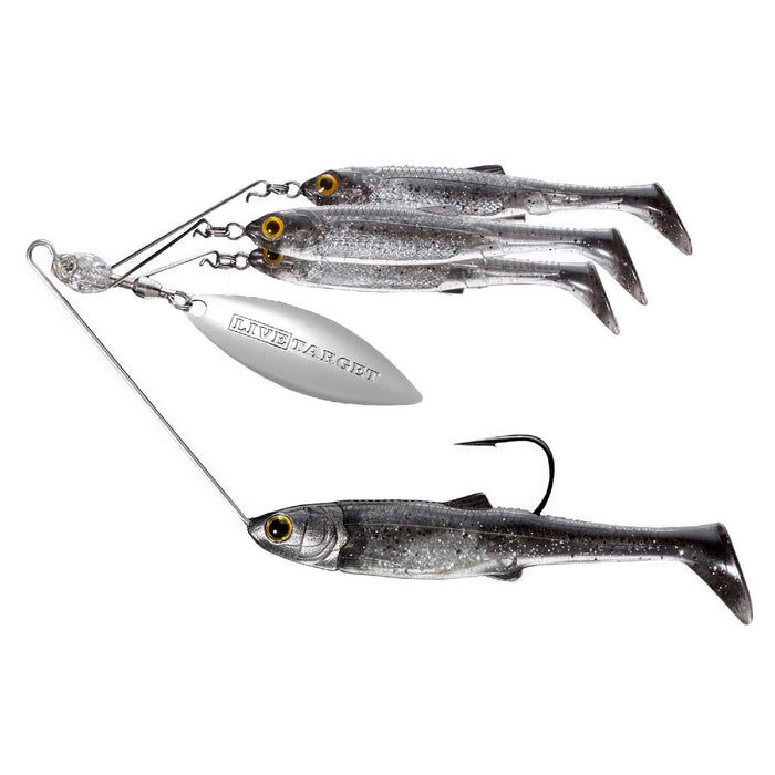 Baitball Spinner Rig - Freshwater, Large, 3-4 oz Weight, 1'-15' Depth, Smoke-Silver, Per 1