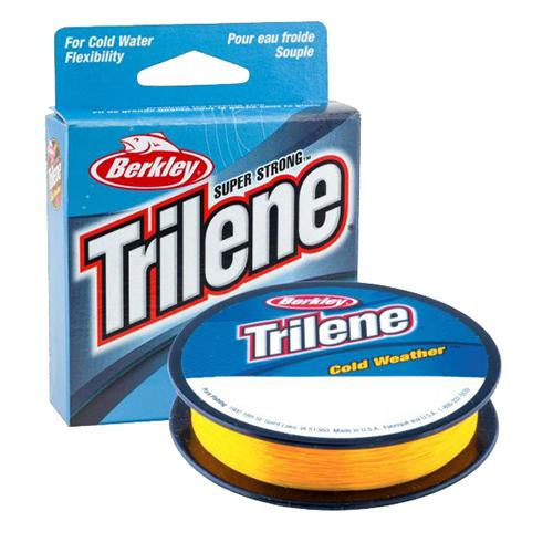 "Trilene Cold Weather Monofilament Line - 4 lbs Breaking Strength, 0.008"" Diameter, 110 Yards, Klondike Gold"
