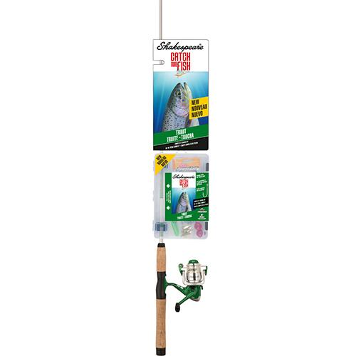 "Catch More Fishing Combo - Trout Spinning, 5'6"" Length, 2 Piece, 4-8 lb Line Rate, Light Power"