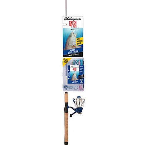 Catch More Fishing Combo - Inshore Spinning, 7' Length, 2 Piece, 10-25 lb Line Rate, Medium Power