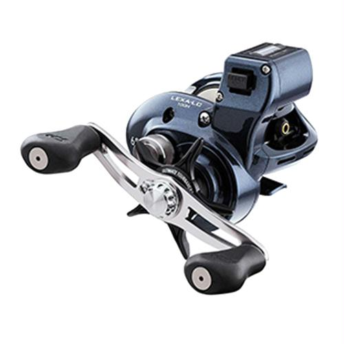 "Lexa Line Counter Casting Reel - 100, 6.3:1 Gear Ratio, 25.70"" Retrieve Rate, 11 lb Max Drag, Right Hand"