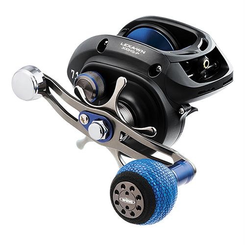 "Lexa Type WN Casting Reel - 300, 7.1:1 Gear Ratio, 32.40"" Retrieve Rate, 22 lb Max Drag, Left Hand, Clam"