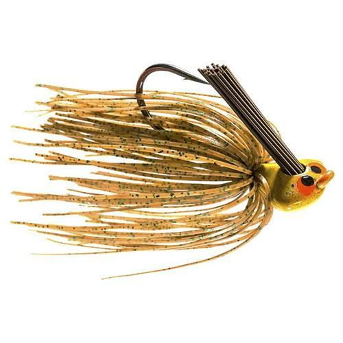 Crosseyez Flipping Jig - Size 4-0 Hook, 1-2 oz, Spring Pumpkin, Package of 1