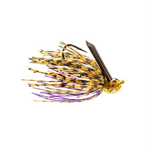 Crosseyez Flipping Jig - Size 4-0 Hook, 3-8 oz, Peanut Butter & Jelly, Package of 1