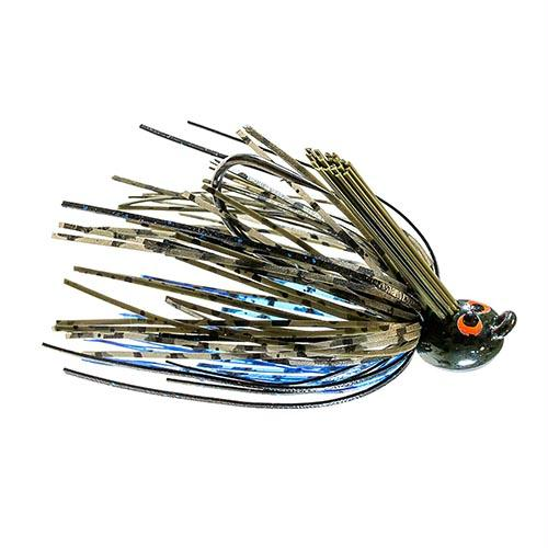 Crosseyez Flipping Jig - Size 4-0 Hook, 3-8 oz, Bruised Green Pumpkin, Package of 1