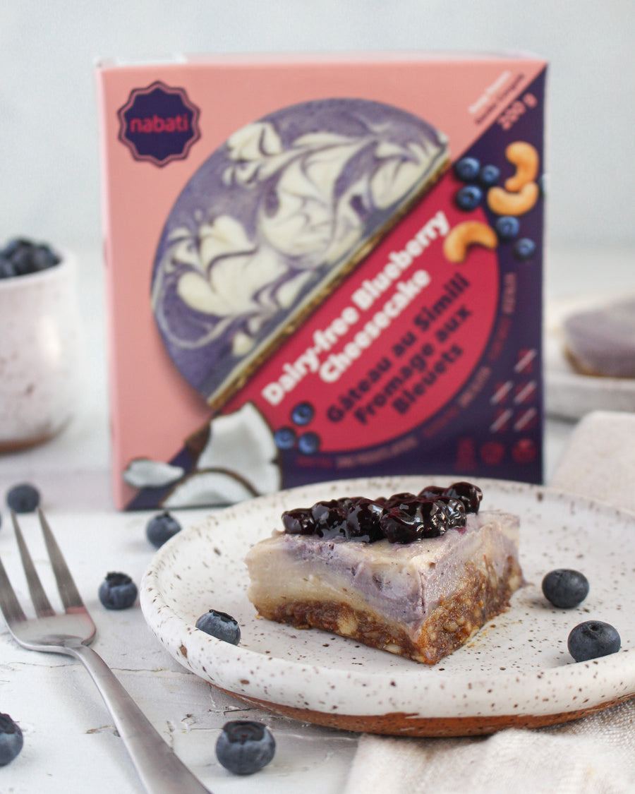 Dairy-Free Blueberry Cheesecake - Nabati