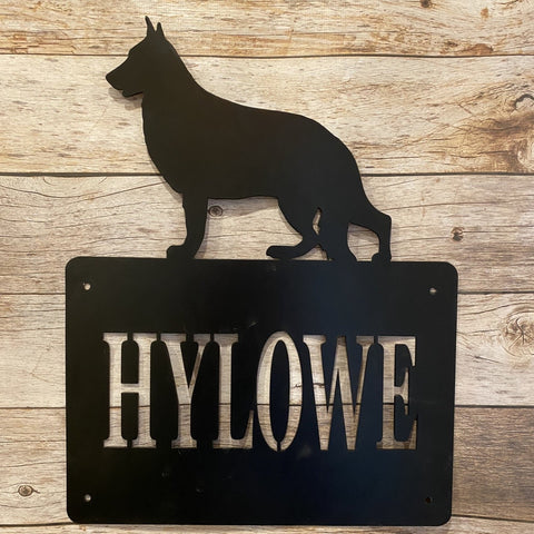 HN13 German Shepherd Address Sign