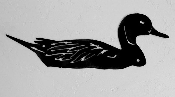 Northern Pintail Duck metal wall art. Wildlife Duck wall hanging horseflymetalart.com