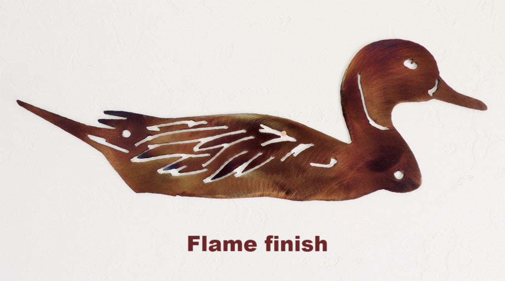 Duck metal wall hanging. Wildlife Pintail Duck wall art horseflymetalart.com