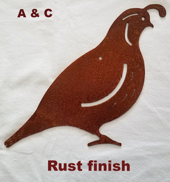 Metal Quail wall art