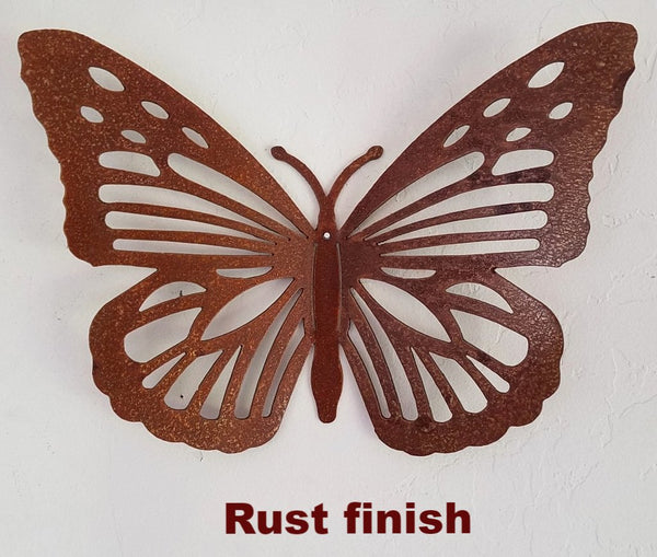 Butterfly wall art metal. Metal Butterfly Garden Art Silhouette
