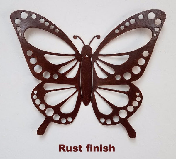 Metal Butterfly garden or wall hanging. Butterfly metal Yard Art horseflymetalart.com