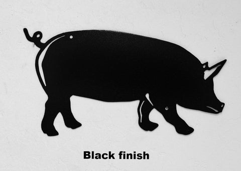 Pig or Hog metal wall art silhouette. Pig wall hanging