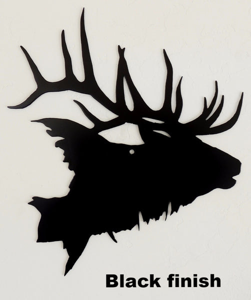 Elk Wildlife metal wall art. Elk metal wall hanging.  horseflymetalart.com
