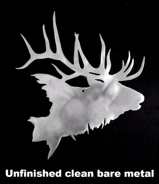 metal Elk wall art. Elk Wildlife wall hanging. horseflymetalart.com