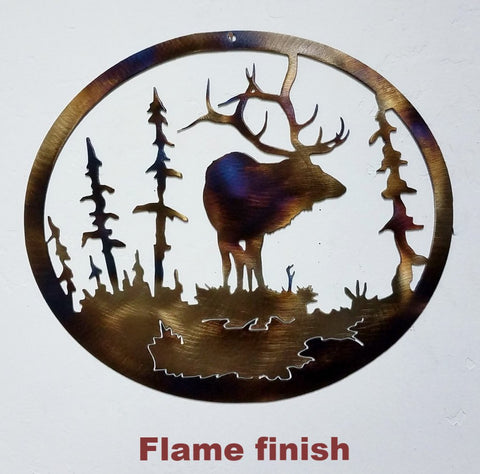AN17H Elk & Tree Wildlife Wall Art $14.00 to $19.50