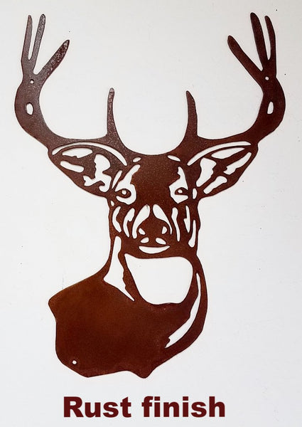 Deer Wildlife metal wall hanging. Buck or Deer Metal Wall Art Silhouette