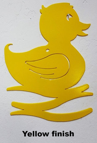 Rubber Duck Wall Art Silhouette. Rubber Ducky metal wall hanging
