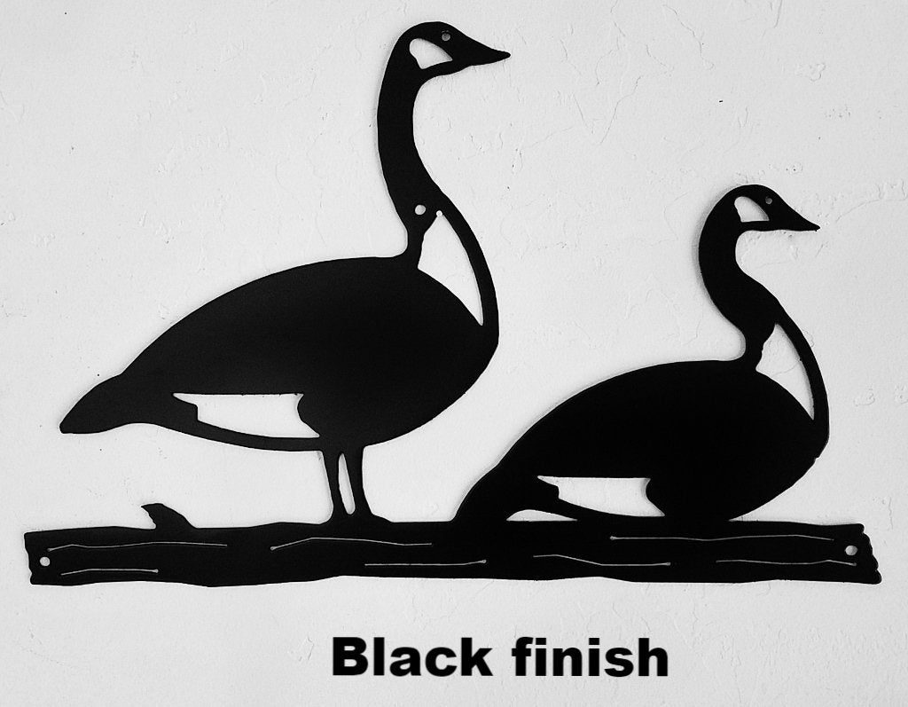 Geese Wildlife metal wall art. Geese Metal Art Silhouette for Home