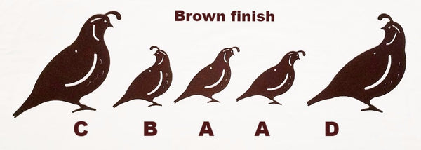Quail Family Metal Wall Art