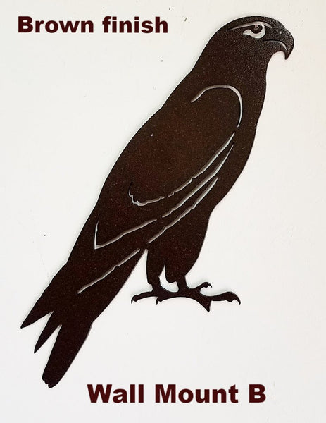 Hawk metal wall hanging. Hawk metal wall art. Hawk wall art silhouette. Hawk metal wall stuff. horseflymetalart.com