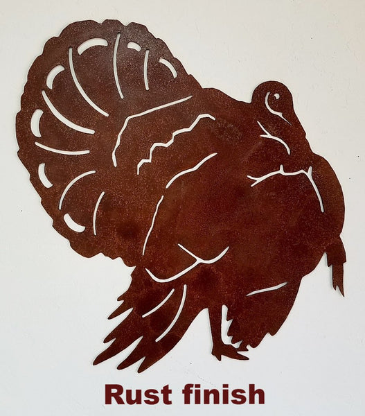 Metal Turkey wall art silhouette Turkey Wildlife wall art Turkey wall hanging