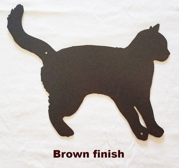 Cat metal wall Art Silhouette. Cat Metal Wall Art Hanging
