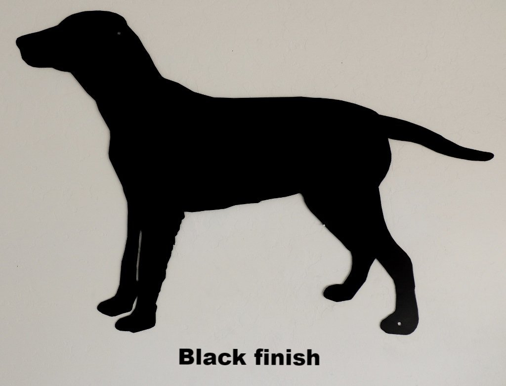 Labrador Dog Metal Wall Art Silhouette. Lab Dog Metal Wall Hanging