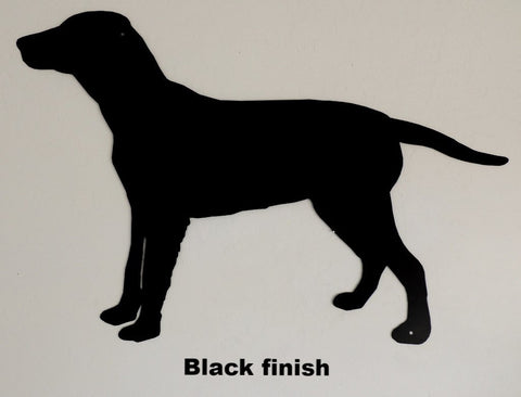 Lab Dog metal wall art silhouette. Dog metal wall hanging. Lab Dog wall art decor.
