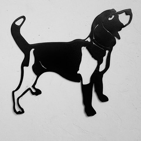 Beagle metal wall hanging Dog metal wall art silhouette Beagle metal wall art