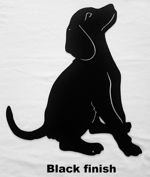 Dog metal wall hanging. Metal Dog wall art silhouette