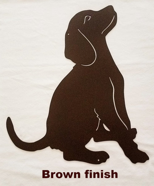 Metal Dog wall art silhouette. Dog metal wall hanging
