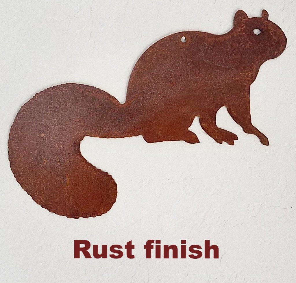 Squirrel Metal Wall Art. Metal Squirrel Garden Art