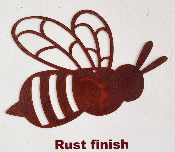 Metal Bee wall art. Bumble Bee Garden art