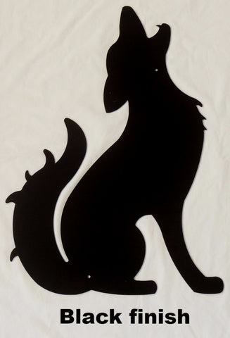 Coyote metal wall art silhouette. Wildlife Coyote wall hanging horseflymetal.com