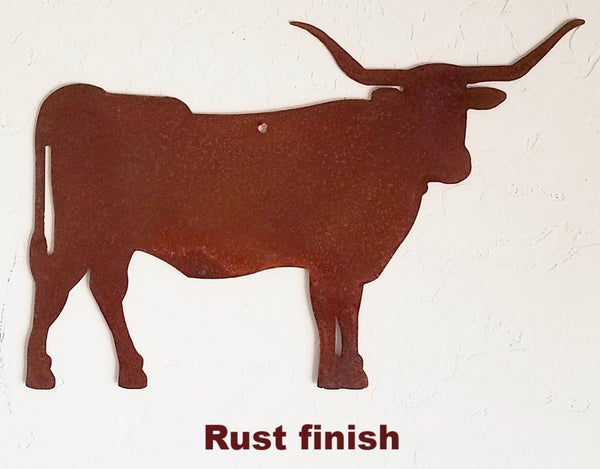 Texas Longhorn Steer metal wall art Texas Longhorn metal wall hanging