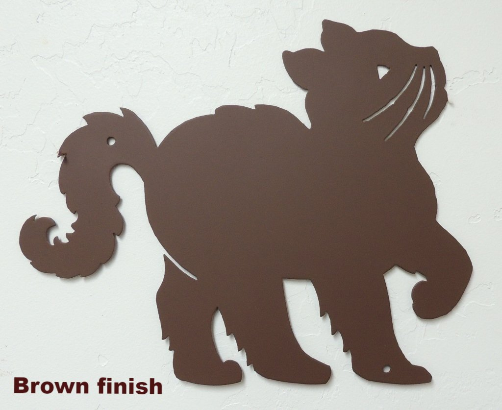 Metal Cat wall art silhouette. Cat wall hanging. Cat metal wall art