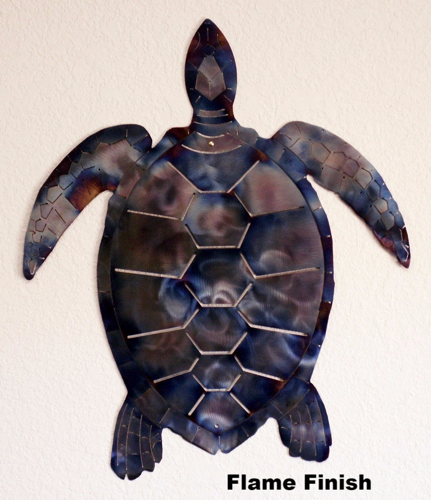 Sea Turtle wall art silhouette Wildlife wall hanging horseflymetalart.com