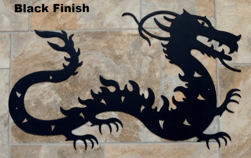 Noble Dragon Metal Wall Art Silhouette | Chinese Dragon wall art ...