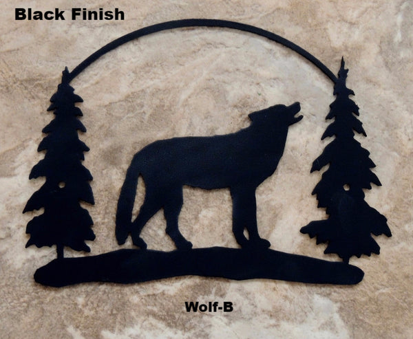 Wildlife Wolf Metal Wall Art Silhouette. Wolf metal wall art. Wildlife wolf wall hanging. horseflymetalart.com