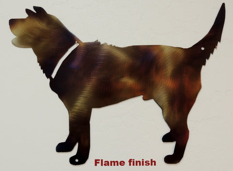 Metal Dog wall art. Dog metal wall hanging. Dog metal wall decor