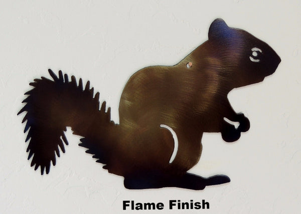 Squirrel metal Wall Art Silhouette. Squirrel Metal Wall Hanging.