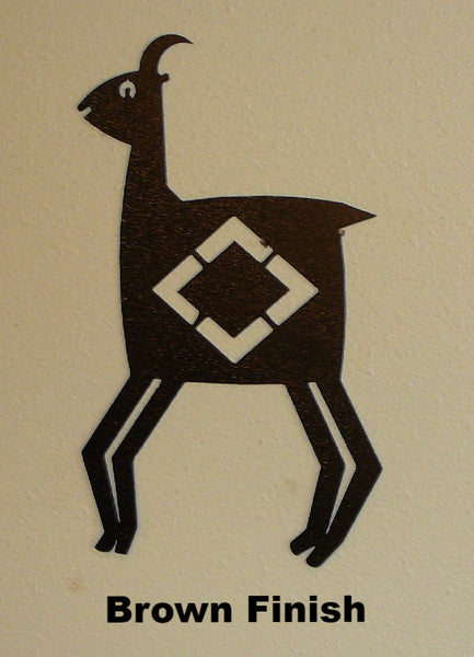 Mimbres Pronghorn Metal Art | Pronghorn or Antelope Metal Wall Art